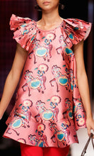 Printed Dress With Pleats