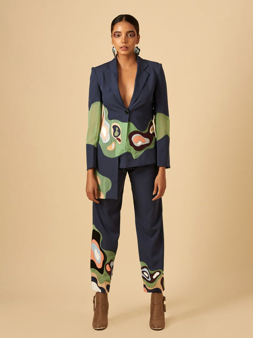 UNDEFINED APPLIQUE JACKET & PANTS SET