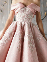 Embroidered Skirt Gown