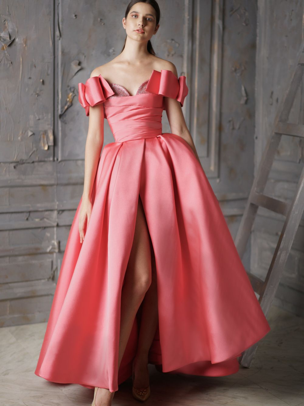 Dress With Draped Bodice