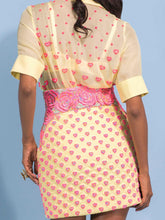 Embroidered Shirt & Skirt Set