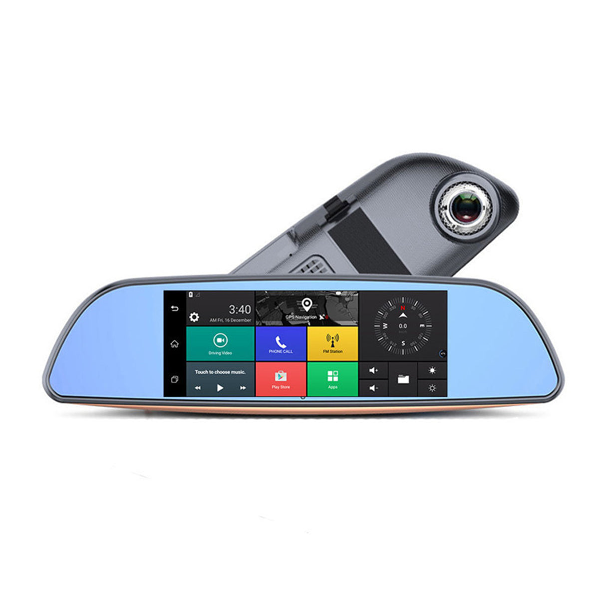 7 Inch HD 1080P Car Mirror Monitor DVR Android 5.0 3G bluetooth Wifi GPS Rear View
