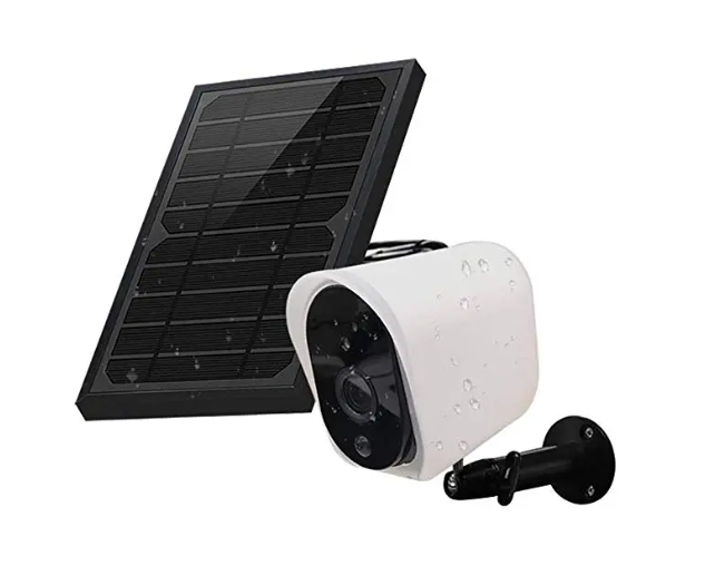 GUUDGO™ Wireless Solar Rechargeable Battery Powered Security IP Camera with Solar Panel, 1080p HD Waterproof Outdoor Home Surveillance with Motional Detection Two Way Audio Night Vision-Work with Alexa