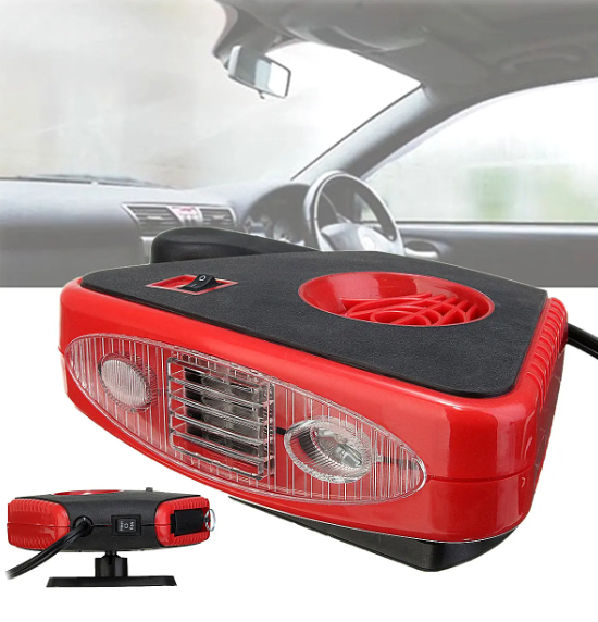 200W DC 12V Car Automatic Instant Heater Defroster Cooling Fan with 2LED Light