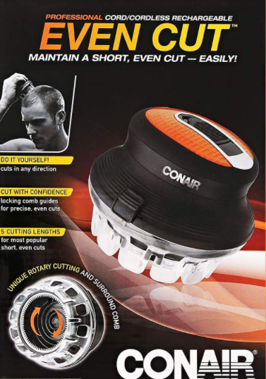 Conair Even Cut Cord And Cordless Circular Haircut Kit