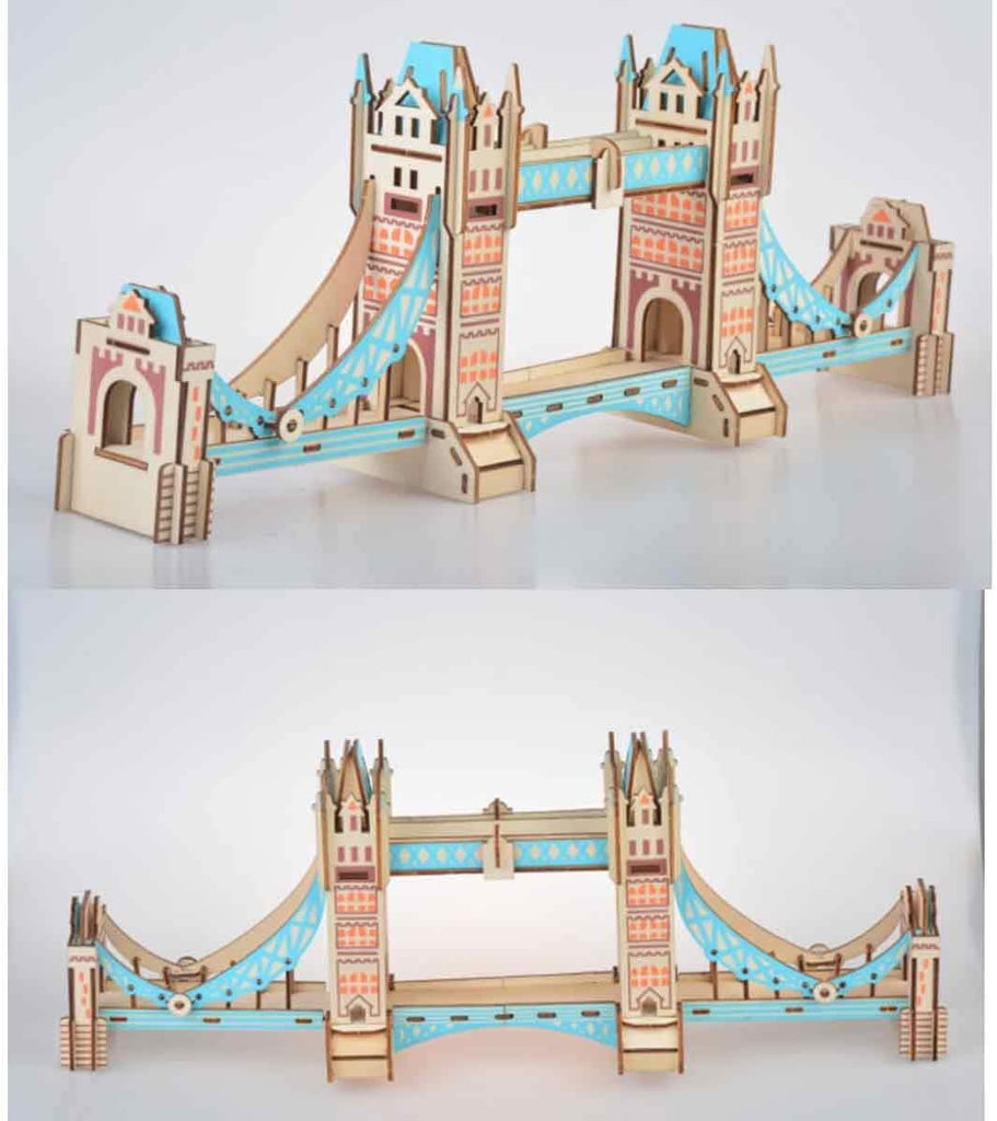 ARCHILOGIX™ 3D Woodcraft Assembly Western Architecture Series Kit Model Building Toy for Kids Gift