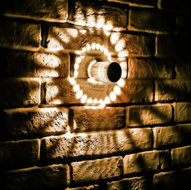 3W LED Spiral Wall Light Lamp