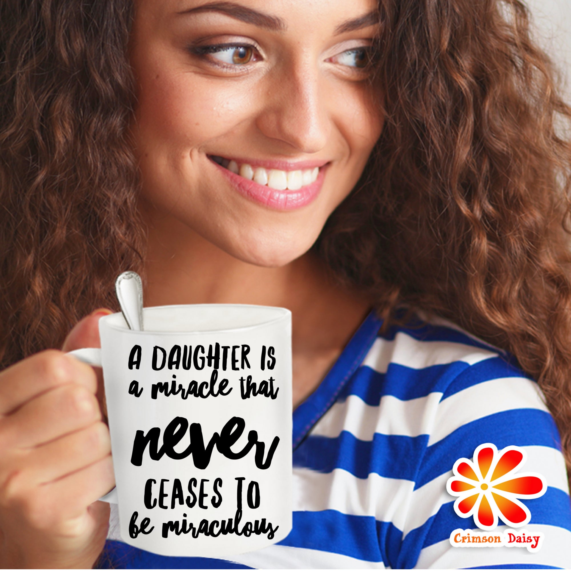 A Daughter is A Miracle that Never Ceases to be Miraculous Coffee Mug - Christmas Presents Gifts,Unique Birthday Gifts For Daughter