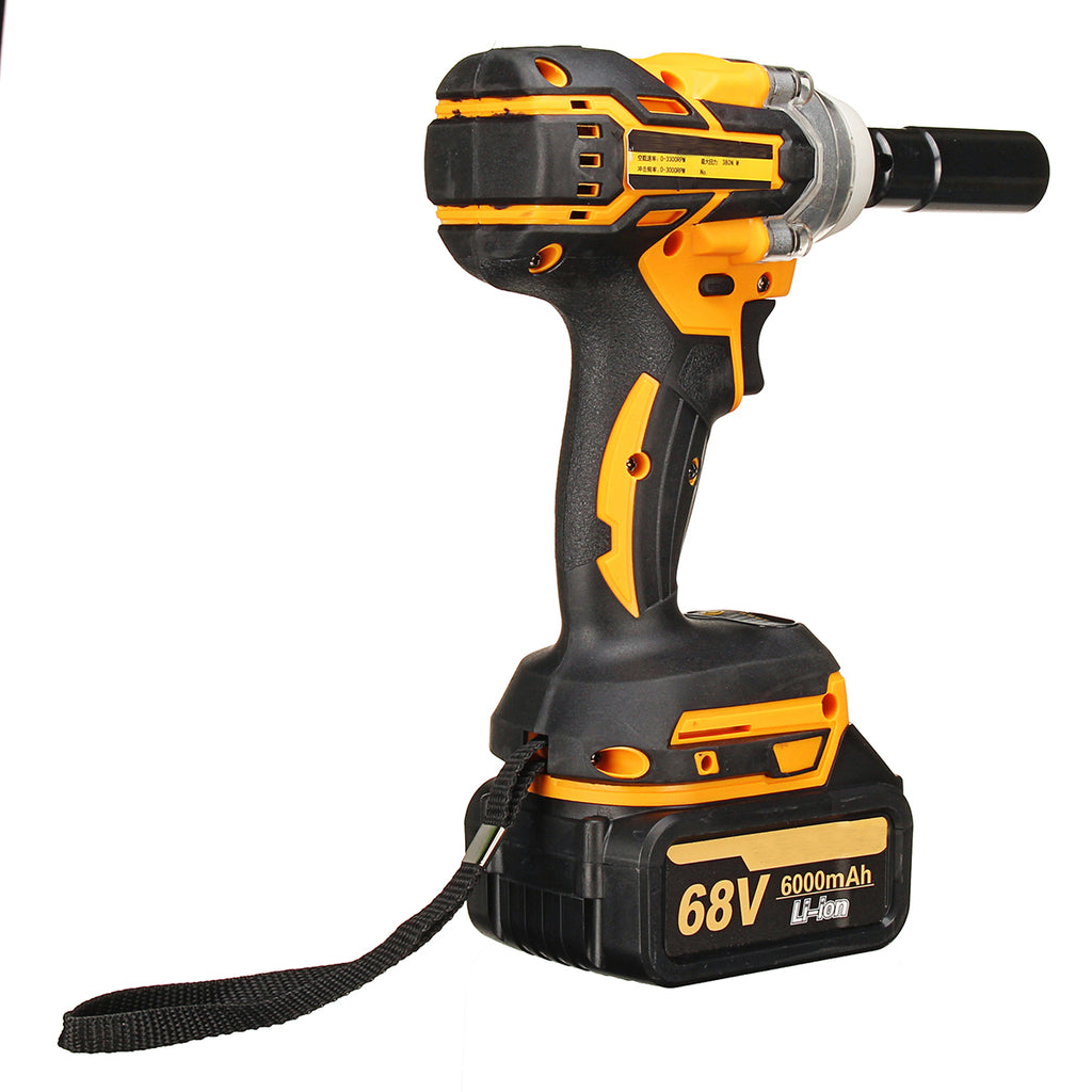 88V 1500mAh Cordless Electric Wrench Lithium-Ion Brushless Motor Impact Wrench 2 Battries