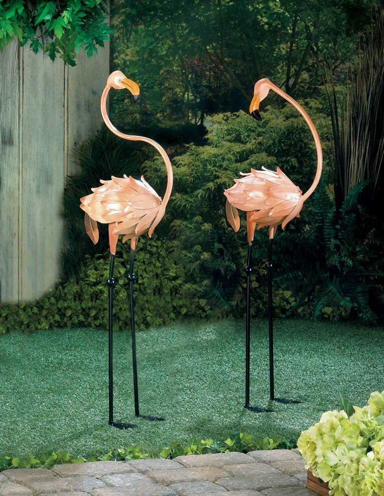 Flamboyant Flamingo Garden Sculptures