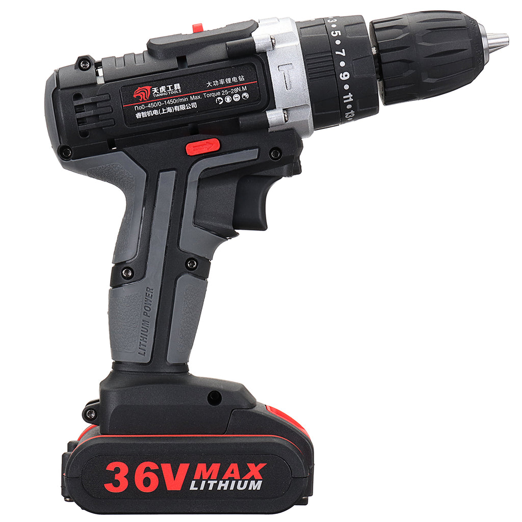Electric Power Cordless Hand Drill Machine 2-Speed Variable