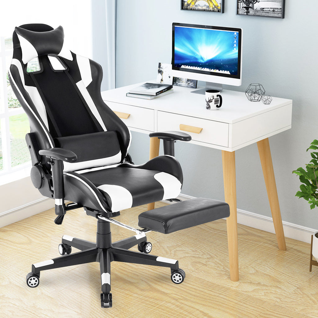 ERGOLOCK™ Racing Style 180° Rocking Adjustable High Back Gaming Ergonomic Computer Office Chair