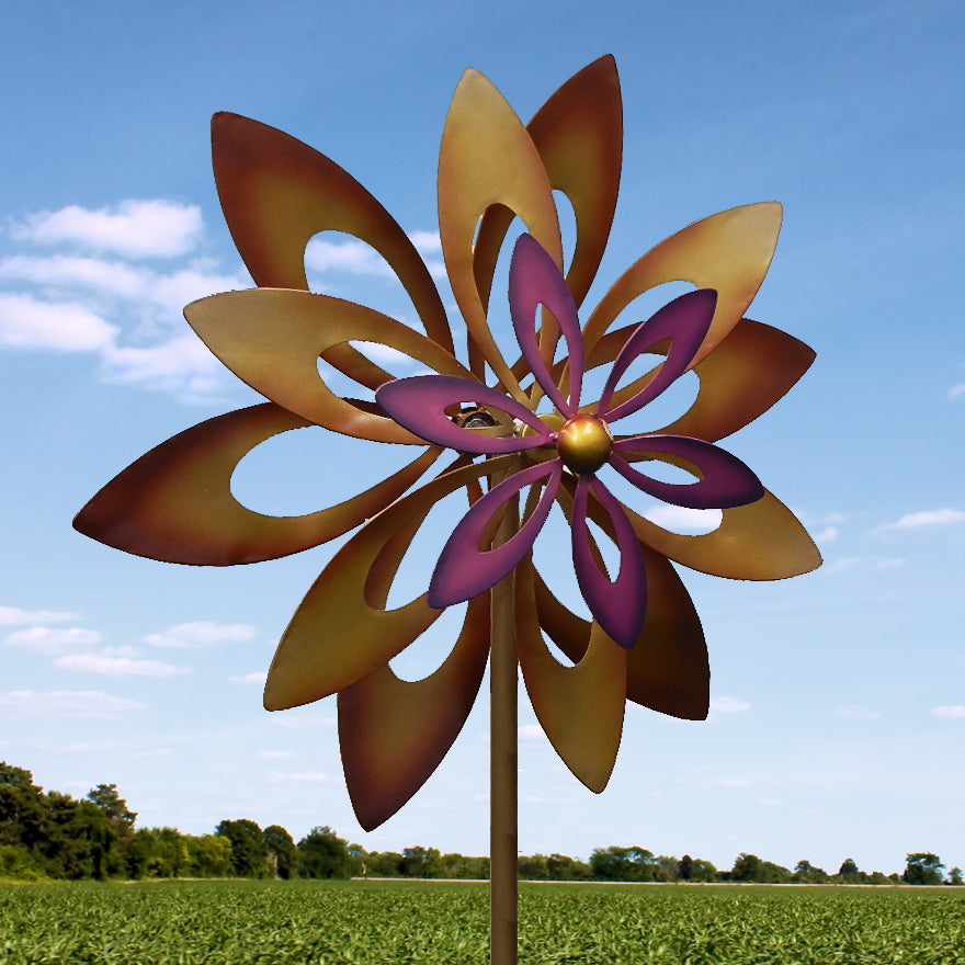 Dancing Sunflower Garden Windmill Garden Spinner
