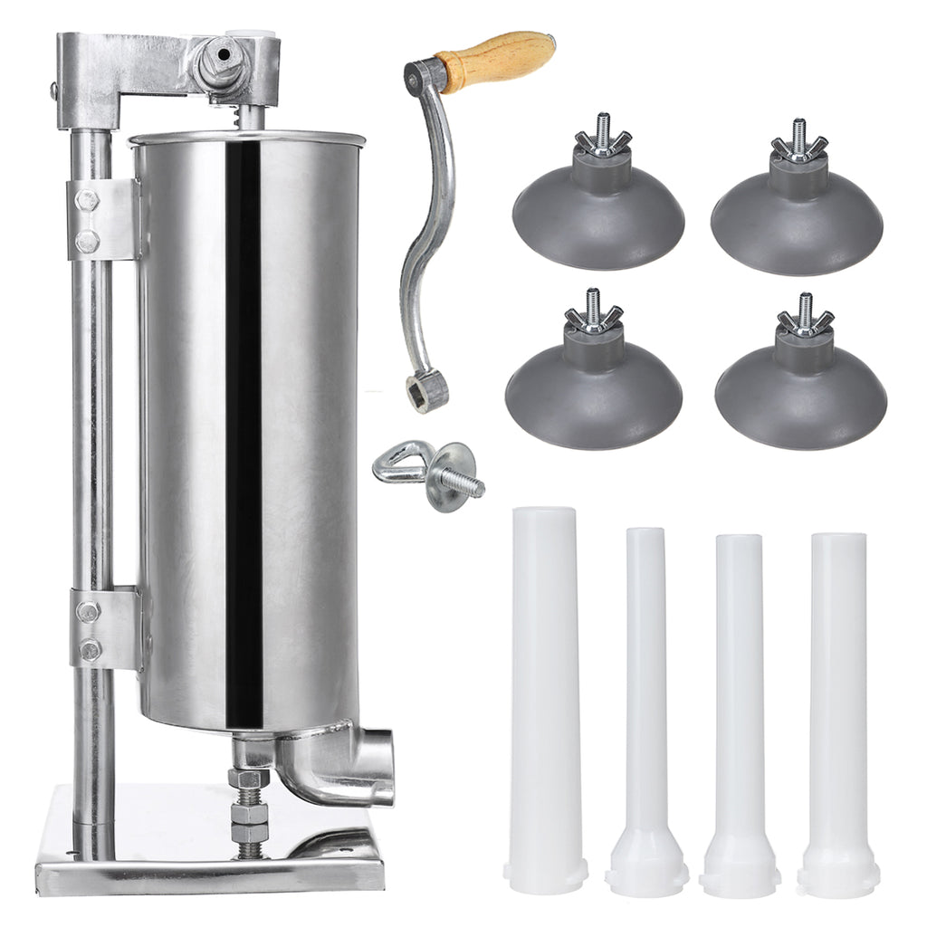 Vertical Sucker 4L Stainless Steel Sausage Filler Sausage Maker Sausage Syringe Meat Tool