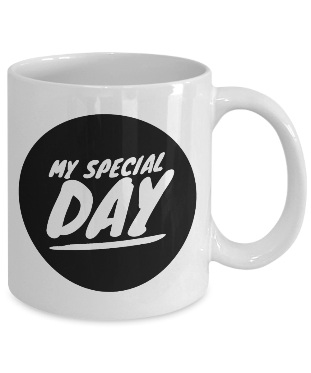My Special Day Coffee Mug- A Perfect and Unique Wedding Gifts for Couple From Family and Friends-Personalized Present for Couple On Their Wedding-Fun Novelty Cup (White)