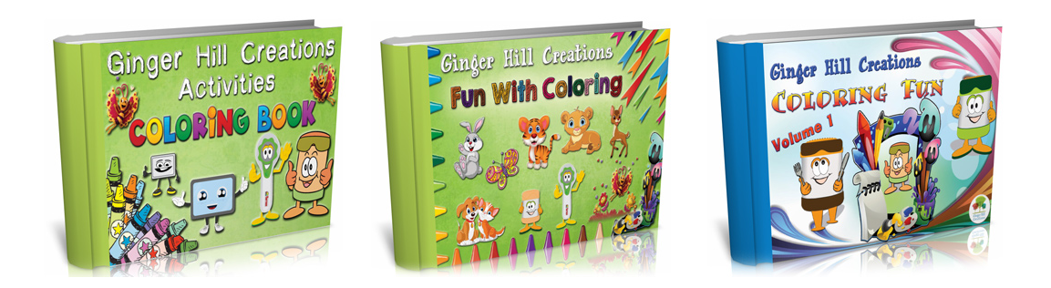 Ginger Hill Creations™ Children's Coloring Books (Downloadable)
