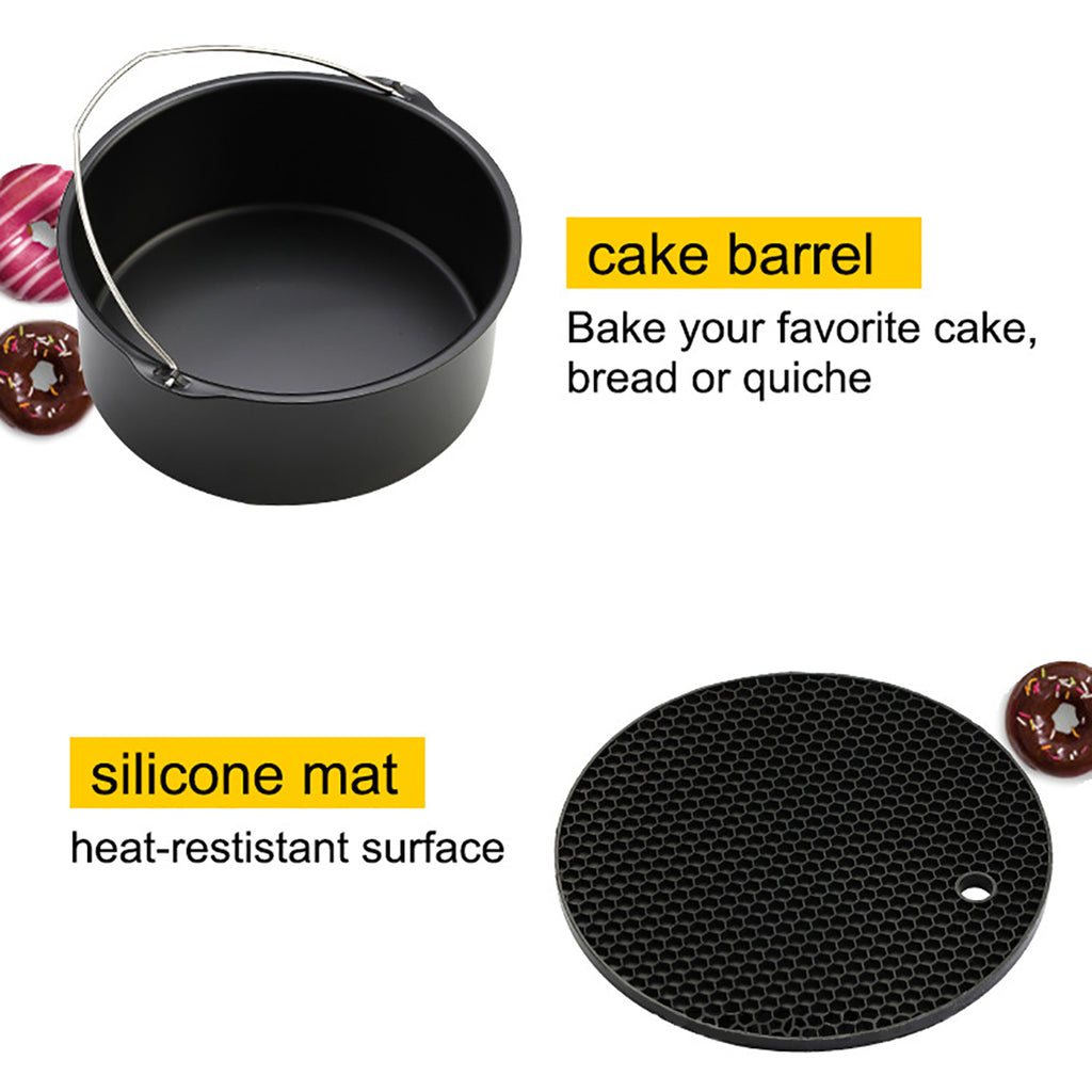 air fryer baking pan cake barrel