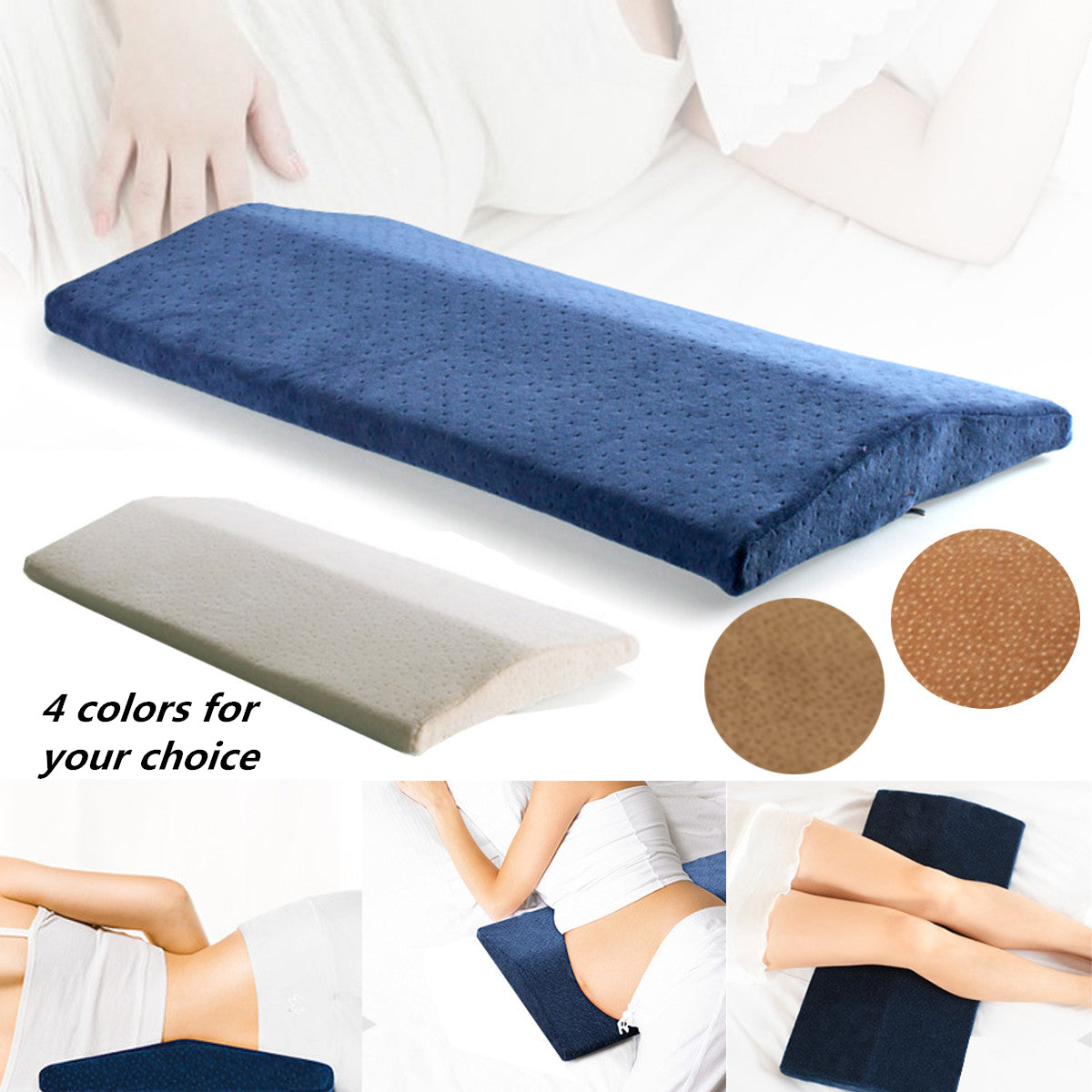 Memory Foam Back Lumbar Support Sleeping Cushion Pain Relief Pregnant Pillow