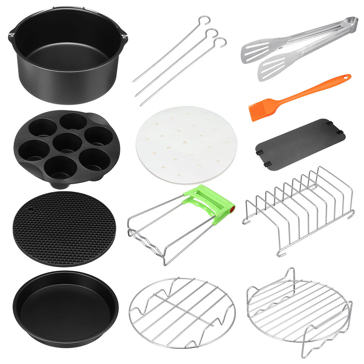 12PCS Air Fryer Accessories Cooking Baking Pan Set