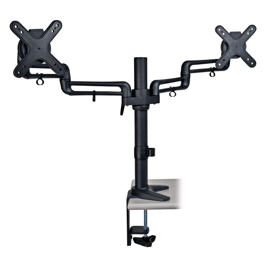 "Tripp Lite Dual Full Motion Flexible Arm Desk Clamp for 13"" to 27"" Monitors"