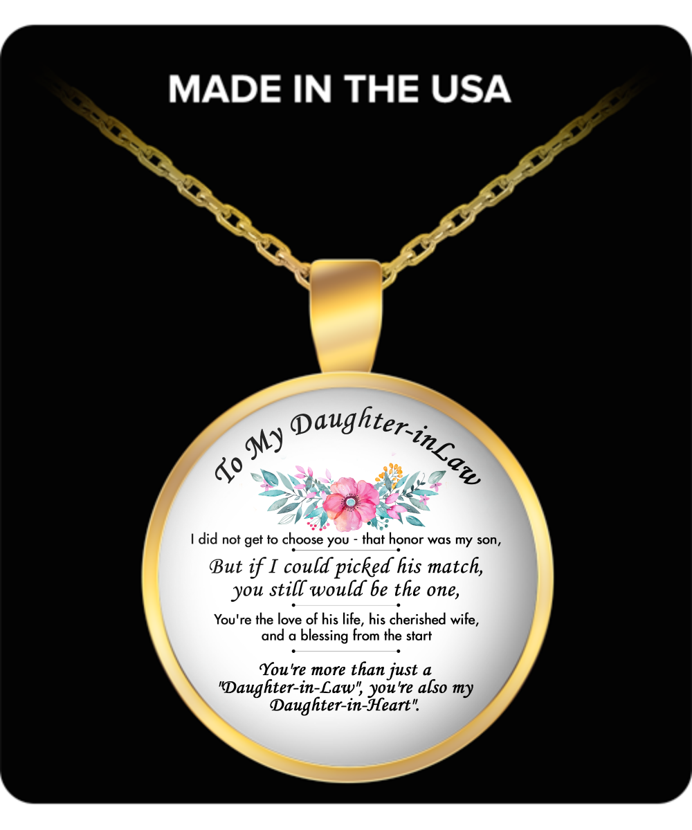 To My Daughter-in-Law Necklace (Gold)  - Unique Birthday Gifts for Her from Father In Law