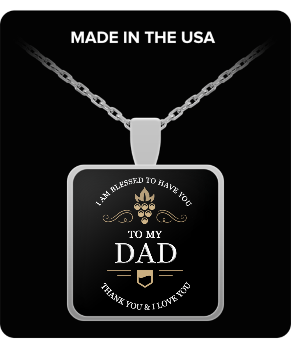 Dad thank you and I love you - Necklace GIFT - LIMITED Time Only - Fathers Day Gifts Ideas for Him from Son, Daughter, Wife - Cool Presents For Father
