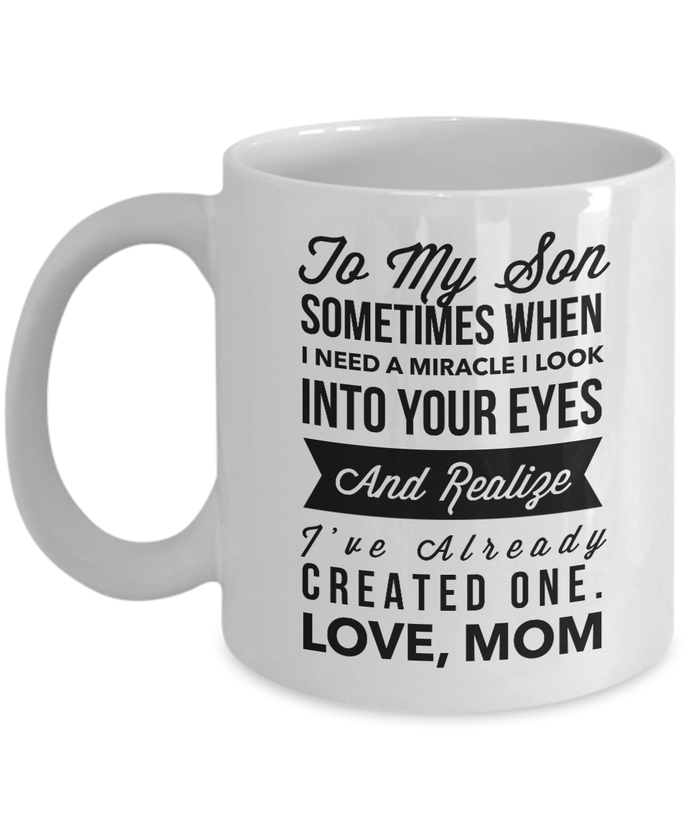 To My Son Coffee Mug,Beautifully Designed Christmas,Birthday Gift for Son