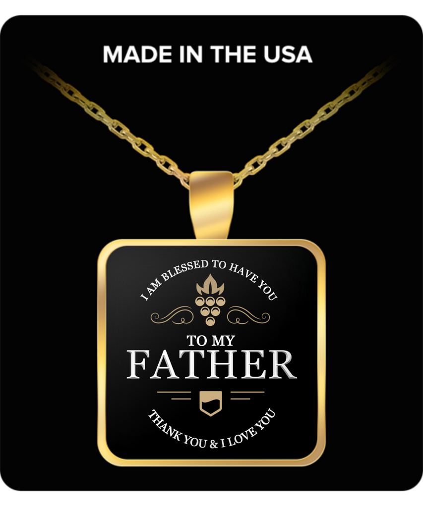 Father thank you and I love you - Necklace GIFT - LIMITED Time Only - Fathers Day Gifts Ideas for Him from Son, Daughter, Wife - Cool Presents For Father