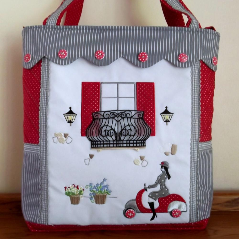 Machine Embroidery Projects: Carry Me Home Italian Bag