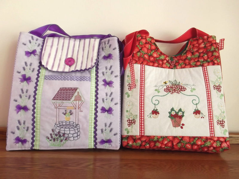 Bundle Wishing Well and Strawberry Delicious Handbags