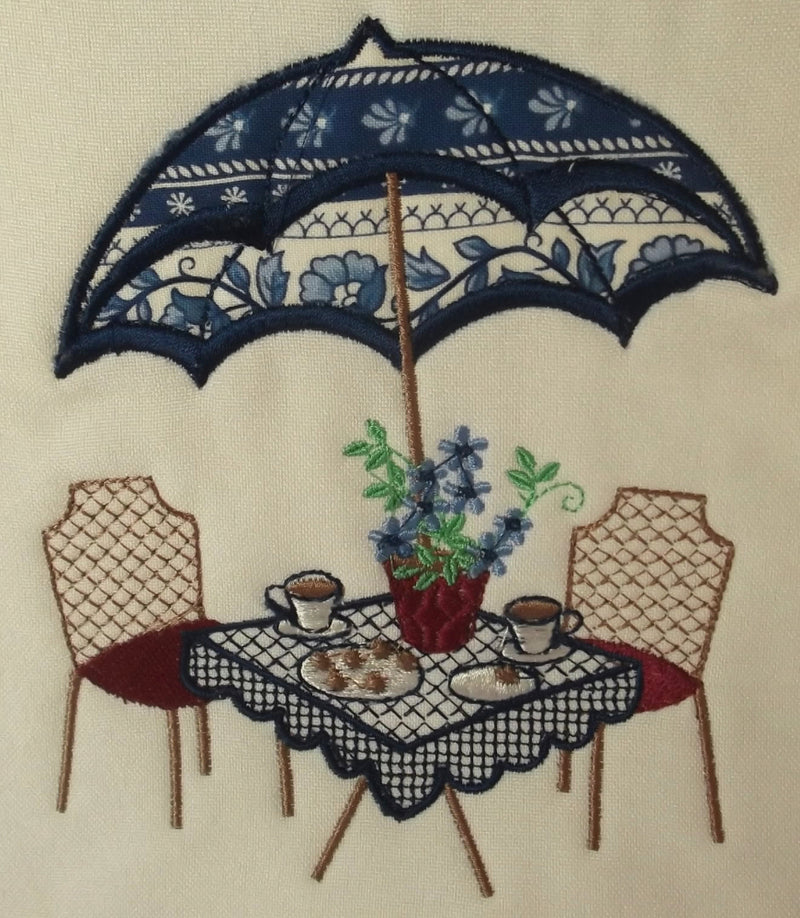 Applique Coffee for two cushion