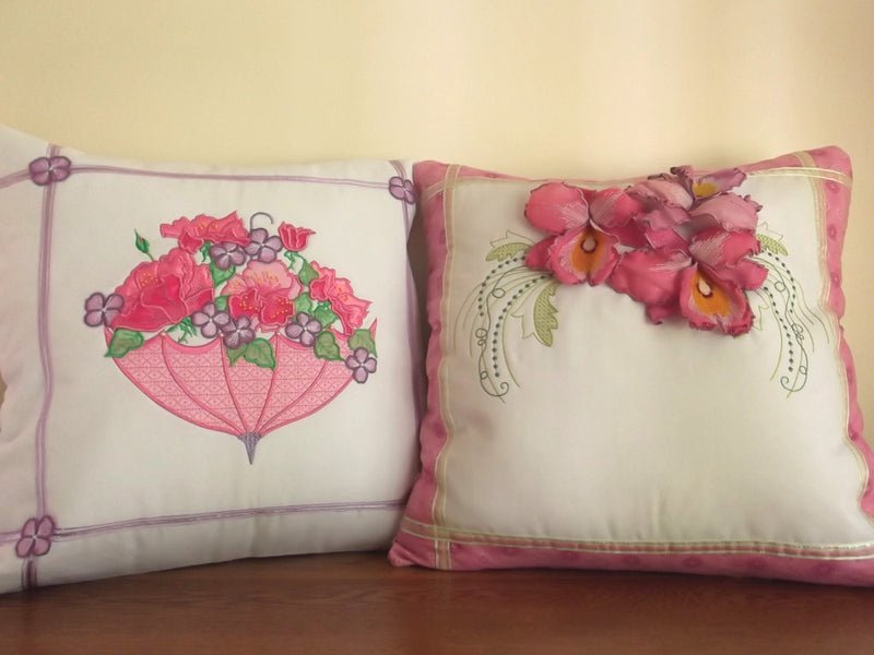 Bundle Orchid Dreams and 3D Rose Umbrella Cushions