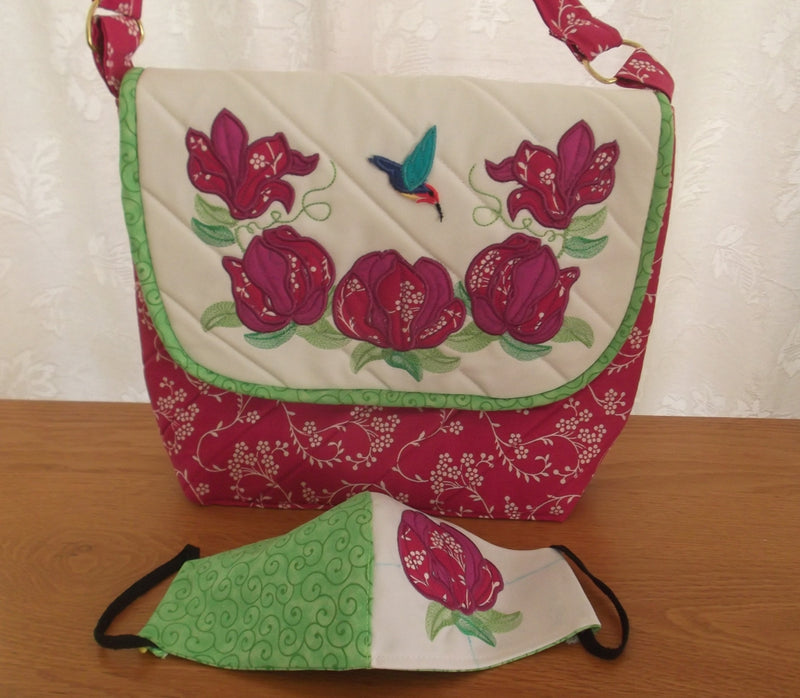 Magnolia Handbag and Mask