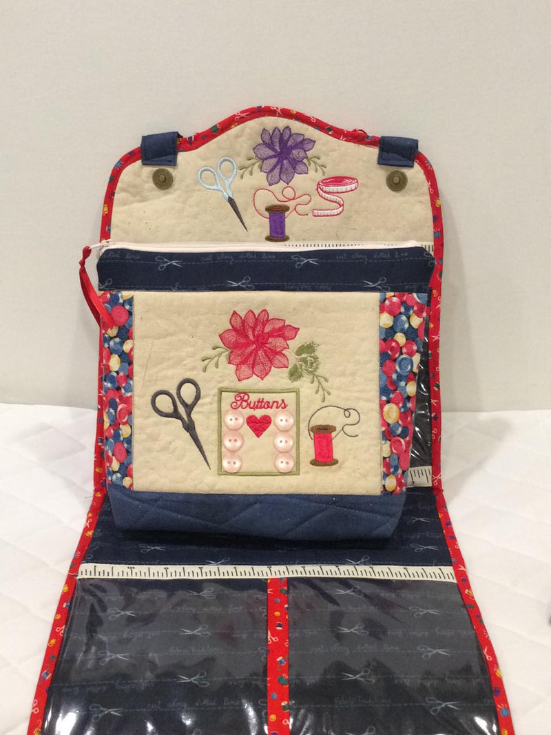 Rock Roses Sewing Carryall