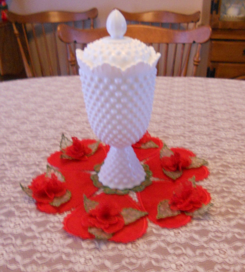 Hearts and Roses Table Mat