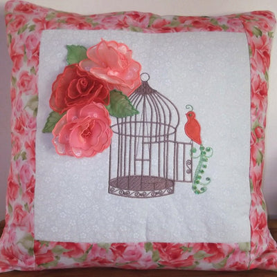 Bundle Birdcage and Watering Can Cushions, Pillows