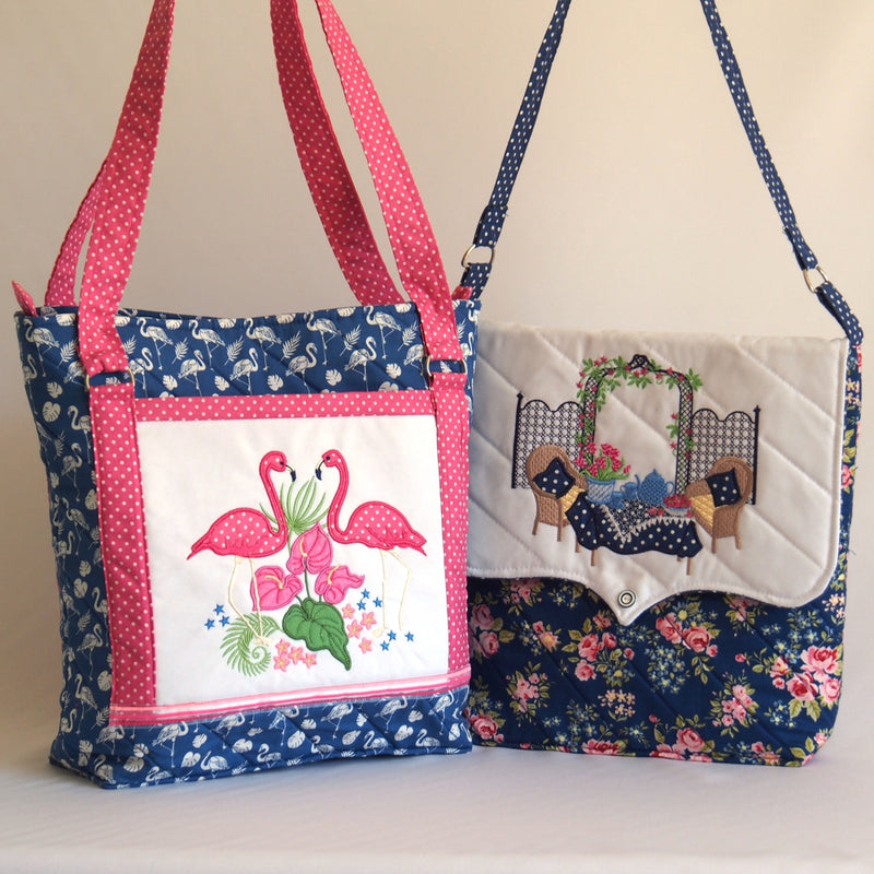 Bundle of Flamingo and Secret Garden Handbag