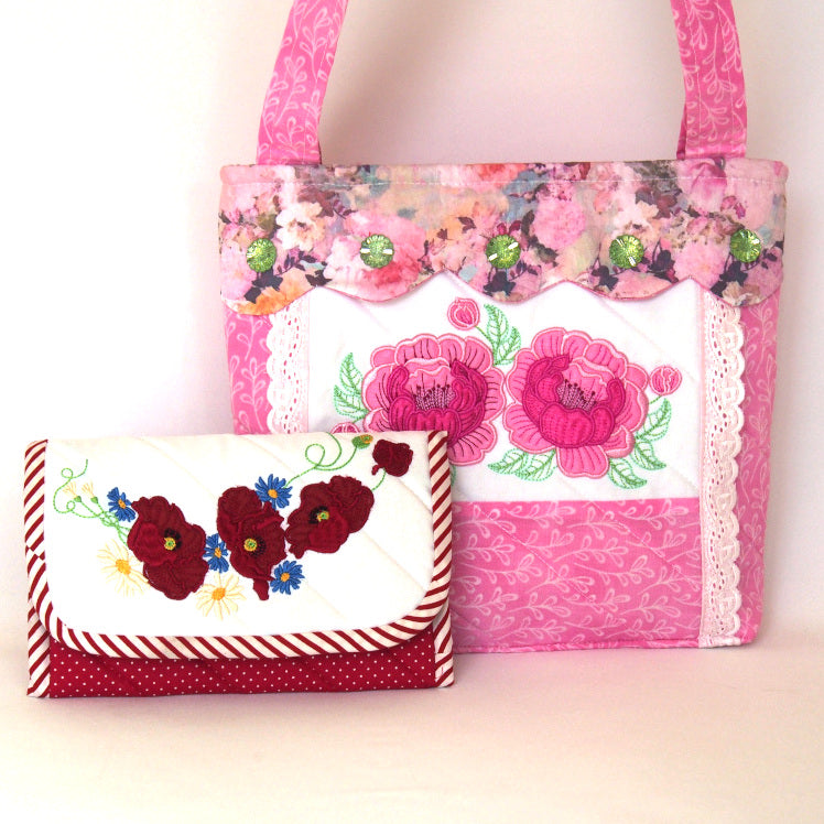 BUNDLE PEONY PURSE AND POPPIES WALLET