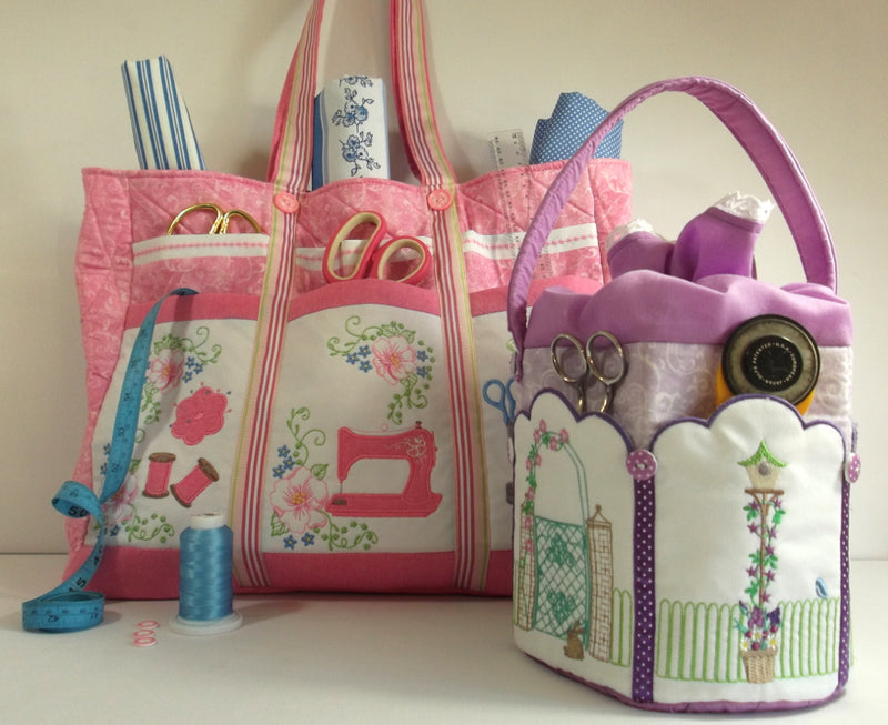 Bundle Romantic Roses and Sweet Sewing Caddies