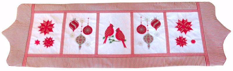 Christmas Cardinals Table Runner