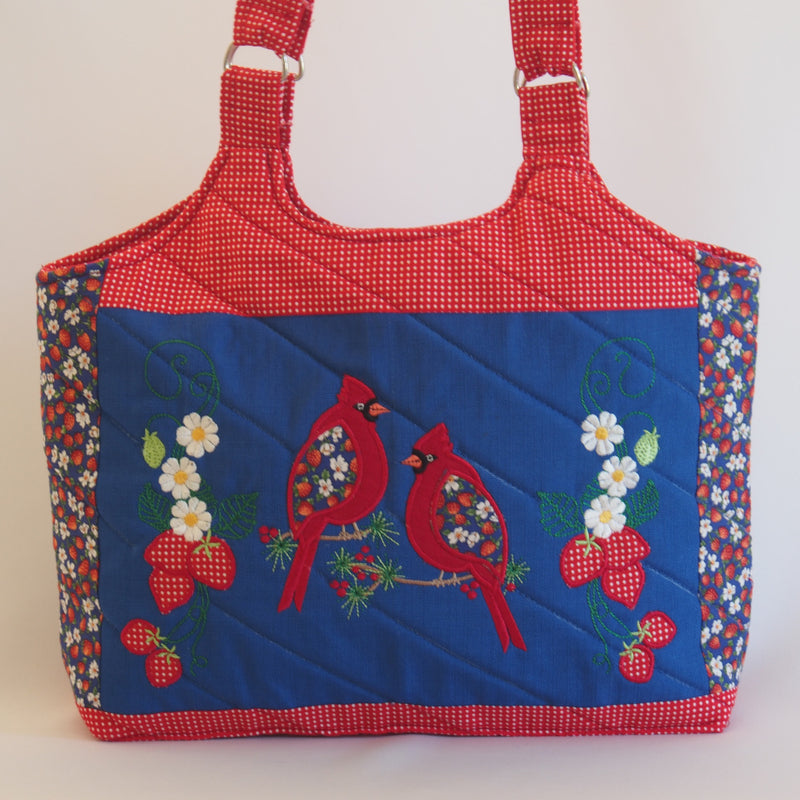 Cardinal and Strawberries Tote