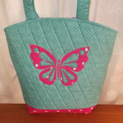Polka Dot Butterfly Tote