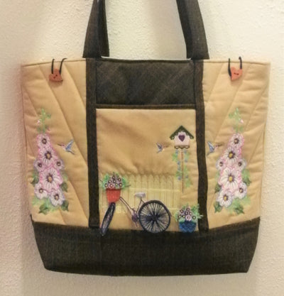 Hollyhocks Sewing Bag