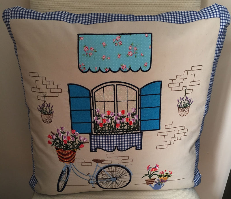 Vintage Paris Bicycle Cushion