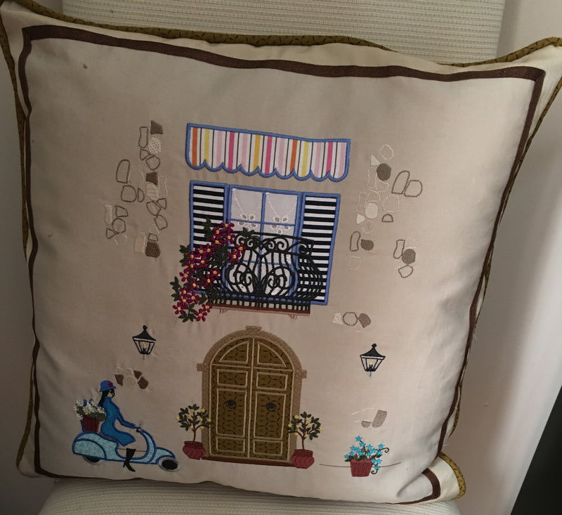 Italian Balcony Scene Cushion