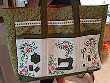 Romantic Roses Sewing Caddy for 5 x 7 hoop
