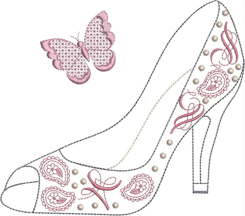 Ooh La La  Shoe Set 5 x 7 $ 6 x 10 Combo
