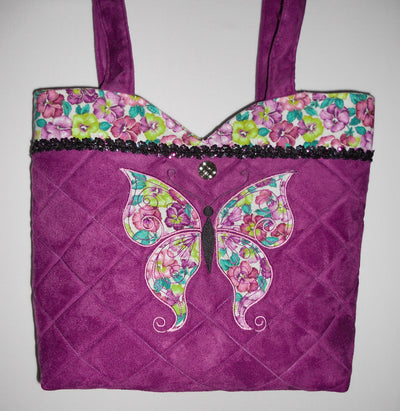 Pansy Butterfly Tote
