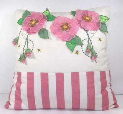 Dog Roses Cushion