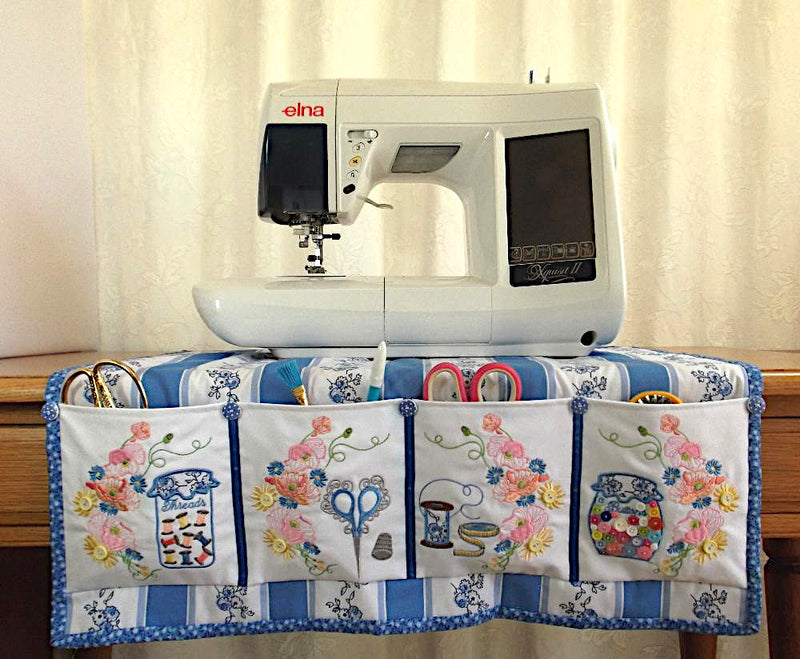 Bundle Poppies Sewing Machine Cover and Mat
